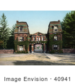 #40941 Stock Photo Of The Entrance Gate At Vassar College In Poughkeepsie New York