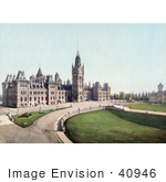 #40946 Stock Photo Of The Lawns And Parliament Buildings In Ottawa Canada