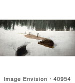 #40954 Stock Photo Of A Miner's Wood Cabin Buried In Snow At The Edge Of A Forest, Colorado by JVPD