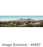 #40957 Stock Photo Of A Panoramic Cityscape Of Boulder Colorado With The Rocky Mountains In The Distance