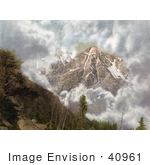 #40961 Stock Photo Of Clouds Surrounding The Mount Of The Holy Cross In The Sawatch Range Of The Rocky Mountains