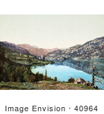 #40964 Stock Photo Of A Landscape Of The San Juan Mountains And Lake San Cristobal In Colorado