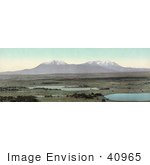 #40965 Stock Photo Of A Panoramic View Of Ponds Near The Spanish Peaks Of The Sangre De Cristo Mountains Colorado