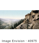 #40975 Stock Photo Of The American-Nettie Mine On A Cliffside In Ouray Colorado