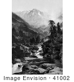#41002 Stock Photo Of A Rocky River Flowing Near The Mount Of The Holy Cross In The Sawatch Range Of The Rocky Mountains In Colorado
