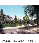 #41017 Stock Photo Of A Victorian Home On Palm Avenue In Riverside California