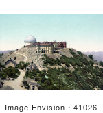 #41026 Stock Photo Of The Lick Observatory On Mt Hamilton In San Jose California