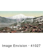 #41027 Stock Photo Of The Mining Village Of Spring Gulch Mine Near Mount Sopris Colorado