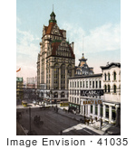#41035 Stock Photo Of A Street Of Commercial Buildings In Milwaukee Wisconsin