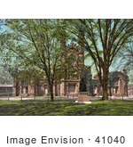 #41040 Stock Photo Of Trees And The Lawn At The Old Library At Yale University New Haven Connecticut