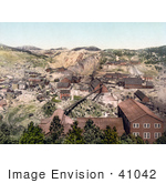 #41042 Stock Photo Of Buildings Of The Homestake Mine And Mill In South Dakota