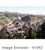 #41043 Stock Photo Of A View On The City Of Deadwood South Dakota