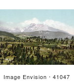 #41047 Stock Photo Of A View Of Long'S Peak In The Rocky Mountains As Seen From Mont Alto Colorado