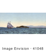 #41048 Stock Photo Of A Boat Sailing Near Alcatraz Island On The Golden Gate San Francisco California