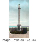 #41054 Stock Photo Of The James Wolfe Monument In Memory Of The Battle Of The Plains Of Abraham Quebec Canada
