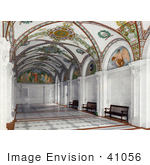 #41056 Stock Photo Of Paintings On The Ceiling In The Interior Of The South Hall Of The Entrance Pavilion At The Library Of Congress