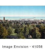 #41058 Stock Photo Of A View From Cascade Park On The City Of Duluth On Lake Superior In Minnesota