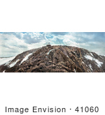 #41060 Stock Photo Of A Mountain Railroad Station On The Summit Of Pike'S Peak Colorado
