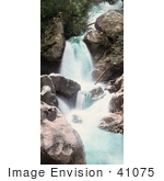 #41075 Stock Photo Of A Rocky Waterfall In Queen Of The Canyon Cascade Canyon Colorado
