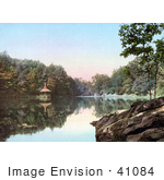 #41084 Stock Photo Of A Gazebo At The Lake Lenape Delaware Water Gap In New Jersey