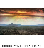 #41085 Stock Photo Of An Orange Sunset Over Cripple Creek Colorado