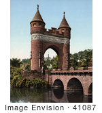 #41087 Stock Photo Of The Bridge Over Park River And Soldiers And Sailors Memorial Arch In Bushnell Park, Hartford, Connecticut by JVPD