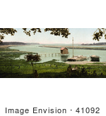 #41092 Stock Photo Of A Boat House And Pier At The Site Of Old Fort Bayou Ocean Springs Mississippi