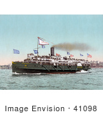 #41098 Stock Photo Of Steamer &Quot;City Of Erie&Quot; Of The Cleveland And Buffalo Line Transporting Passengers