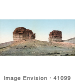 #41099 Stock Photo Of The Giant Club And Kettle Rock Formations In Green River, Utah by JVPD