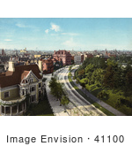 #41100 Stock Photo Of Homes On The Circle In Brooklyn New York