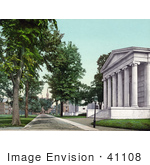 #41108 Stock Photo Of A Road In Front Of The Whig And Clio Halls At Princeton University New Jersey