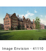 #41110 Stock Photo Of The Dormitories At Vassar College When It Was A Women'S School Poughkeepsie New York
