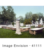 #41111 Stock Photo Of The Burial Stone Of Aaron Burr In Presidents Row In The Old Princeton Cemetery New Jersey