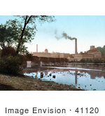 #41120 Stock Photo Of Smoke Rising From The Chimeys At The Appleton Paper Mill On The Banks Of Fox River In Wisconsin by JVPD