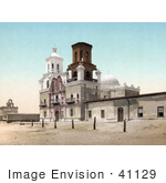 #41129 Stock Photo Of The Spanish Catholicmission Mission San Xavier Del Bac Near Tucson Arizona