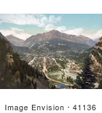 #41136 Stock Photo Of The Uncompahgre River Flowing Through The Valley City Of Ouray, Colorado by JVPD