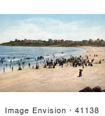 #41138 Stock Photo Of People Enjoying A Sunny Day On York Beach In Maine