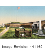 #41165 Stock Photo Of People At Fort Moultrie In Charleston South Carolina