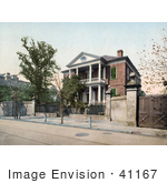 #41167 Stock Photo Of A Front View Of The Pringle House In Charleston South Carolina