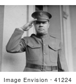 #41224 Stock Photo Of Babe Ruth Facing Front Wearing A Uniform And Saluting