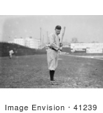 #41239 Stock Photo Of Ty Cobb Of The Detroit Tigers Standing And Posing With A Bat In A Field