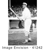 #41242 Stock Photo Of Jim Thorpe Of The Giants Standing With A Baseball Bat At Polo Grounds