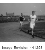 #41258 Stock Photo of Jim Thorpe And Thomas Mclaughlin Running On A Track, Between 1910 And 1915 by JVPD