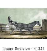 #41321 Stock Illustration Of The Trotting Horse Named Trustee In His 20th Mile On October 20th 1848