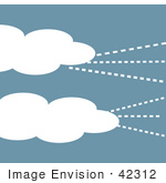 #42312 Clip Art Graphic Of Wind And Clouds In A Sky