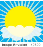 #42322 Clip Art Graphic Of A Partly Cloudy Sunny Sky