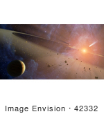 #42332 Stock Photo Of A Planetary System Known As Epsilon Eridani