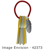 #42373 Clip Art Graphic Of A Lucky Rabbits Foot And Keys
