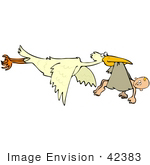 #42383 Clip Art Graphic Of A Stork Delivering A Baby
