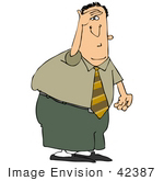 #42387 Clip Art Graphic Of A Businessman On The Look Out